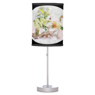 Hydrangeas Bella Watercolor Table Lamp