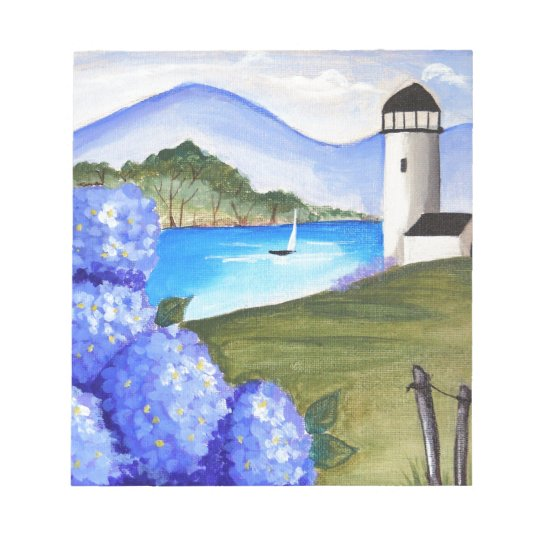 Hydrangeas by the bay notepad