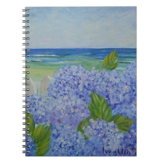 Hydrangeas By the Sea Spiral Notebook