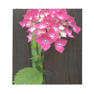 hydrangeas in bloom notepad