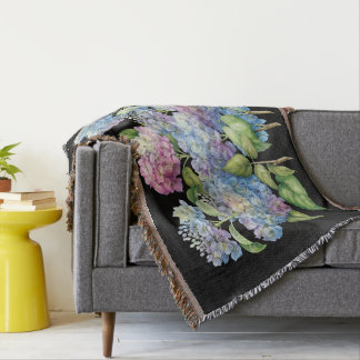 Hydrangeas in Bloom Throw Blanket