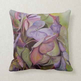 Hydrangeas - Mid-summers Beauty Throw Pillow
