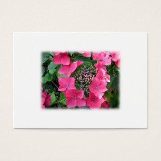Hydrangeas. Pink Flowers. White. Business Card