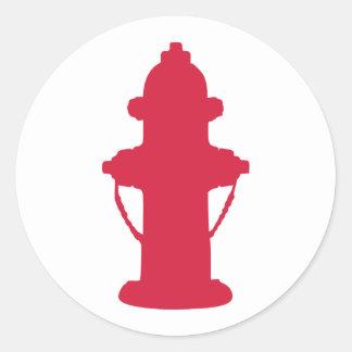 Hydrant Round Stickers