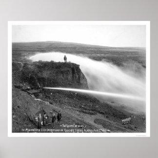Hydraulic Gold Mining Alaska 1910 Poster
