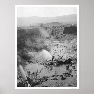 Hydraulic Gold Mining Alaska 1912 Poster