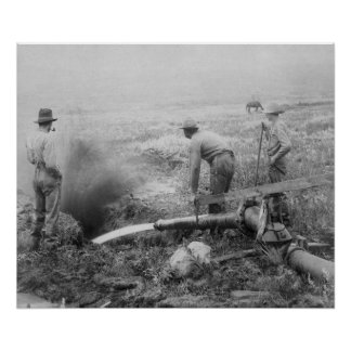 Hydraulic Gold Mining in Rockerville Photograph Poster