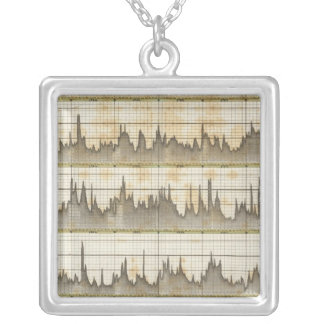 Hydro historical overview of state Elbe River Silver Plated Necklace