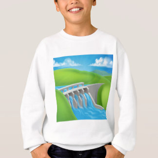 Hydroelectric Power Dam Generating Electricity Sweatshirt