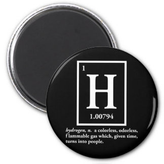 hydrogen - a gas which turns into people refrigerator magnet