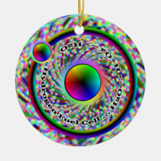 Hydrogen Fuel Cell & Peace Spiral Ornament
