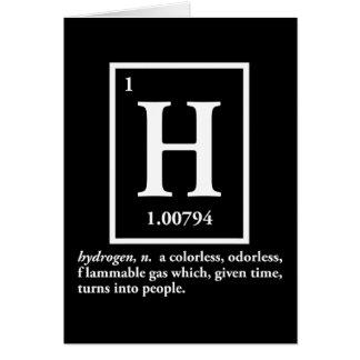 hydrogène - un gaz qui se transforme en personnes cartes de vœux