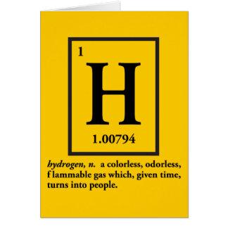 hydrogène - un gaz qui se transforme en personnes carte de vœux