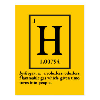 hydrogène - un gaz qui se transforme en personnes cartes postales