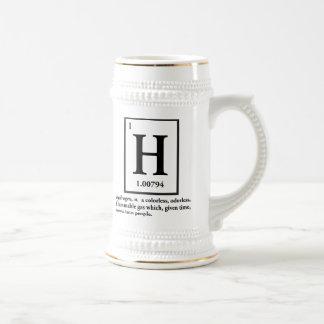 hydrogène - un gaz qui se transforme en personnes chope à bière