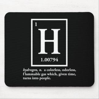hydrogène - un gaz qui se transforme en personnes tapis de souris