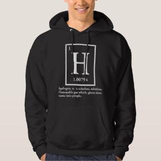hydrogène - un gaz qui se transforme en personnes pull avec capuche