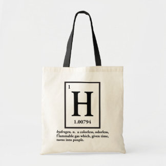 hydrogène - un gaz qui se transforme en personnes sac en toile budget