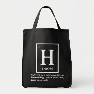 hydrogène - un gaz qui se transforme en personnes sac en toile épicerie