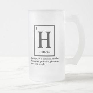 hydrogène - un gaz qui se transforme en personnes tasse