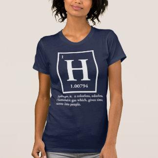 hydrogène - un gaz qui se transforme en personnes tee-shirt