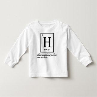 hydrogène - un gaz qui se transforme en personnes t shirt