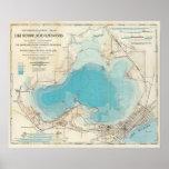 Hydrographic map Lake Mendota Poster