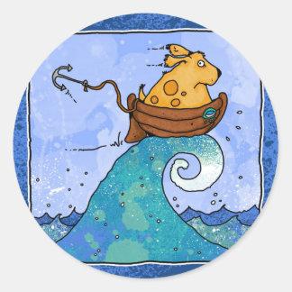 hydrophobia classic round sticker