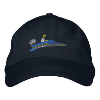 Hydroplane Embroidered Baseball Caps