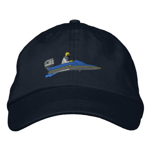 Hydroplane Embroidered Baseball Caps