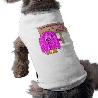 hydroponic farming is inner city farming doggie t shirt