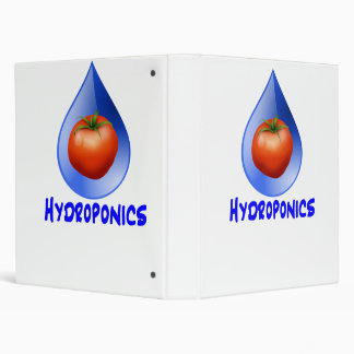 Hydroponic Tomato water drop design logo 3 Ring Binders
