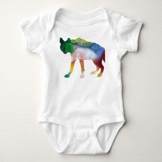 Hyena art baby bodysuit