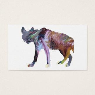 Hyena art business card