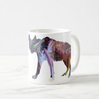 Hyena art coffee mug