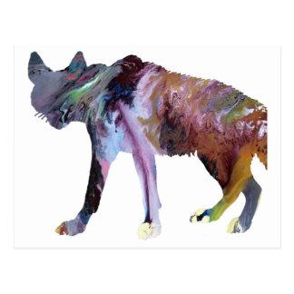 Hyena art postcard