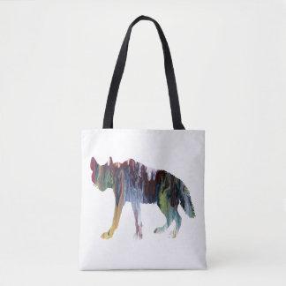 Hyena art tote bag