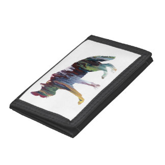 Hyena art tri-fold wallets