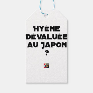 HYENA DEVALUATED IN JAPAN? - Word games Gift Tags