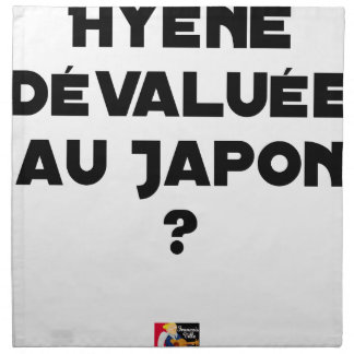 HYENA DEVALUATED IN JAPAN? - Word games Napkin