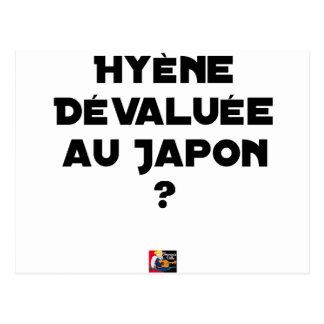 HYENA DEVALUATED IN JAPAN? - Word games Postcard