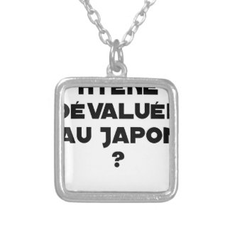 HYENA DEVALUATED IN JAPAN? - Word games Silver Plated Necklace