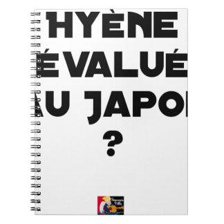 HYENA DEVALUATED IN JAPAN? - Word games Spiral Notebook