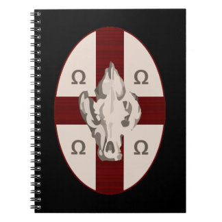 Hyena Shield Spiral Notebook