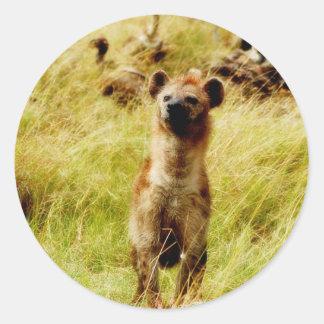 Hyena with wildebeest (gnu) sticker