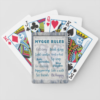 Hygge Rules Bicycle Playing Cards