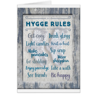 Hygge Rules Card