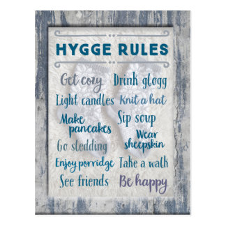 Hygge Rules Postcard