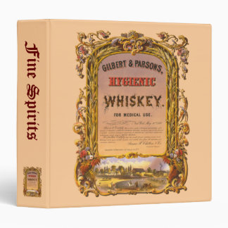 Hygienic Whiskey: 1860 - Liquor & Spirits Log Binders