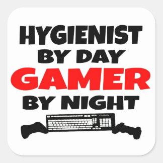 Hygienist Gamer Square Sticker